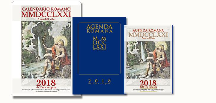 Calendario Romano.Calendario Romano E Agenda Dell Anno Mmdcclxxi A V C 2018 E V Arq
