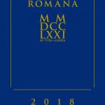 AGENDA ROMANA MMDCCLXXI a.V.c. – 2018 e.v. settimanale